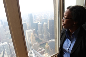 "Donna Marbury/ MEDILL Melonie Boone, owner of Boone Management Group, says even though she has clients across the country, ""there's no place like Chicago. This is home for me."""