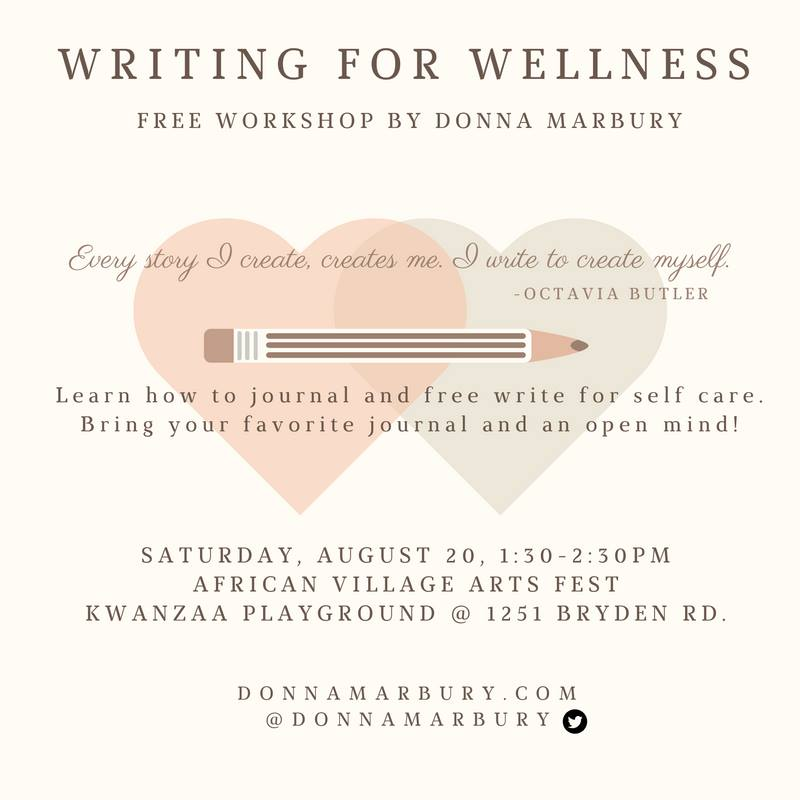 Writing For Wellness workshop